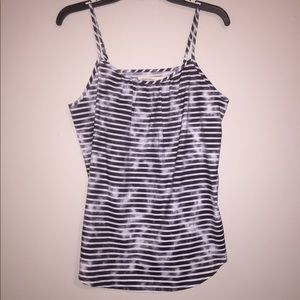 NWT loose fit black & white striped tank top